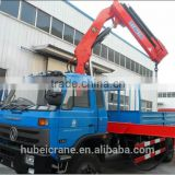 hand operated lifting equipment on truck, Model No.: SQ200ZB4, 10ton truck crane with foldable booms.