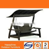 MT2683 Hotsale High quality outdoor gazebo swing chaise lounge with canopy outdoor swing lounge Harbo Garden Furniture