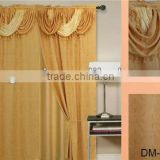 2013 hotsales fancy 100% polyester curtains with attached valance