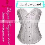Plus Size Bustier Dress Floral Jacquard Bustier Front Hooking Lace Up Corset DH819