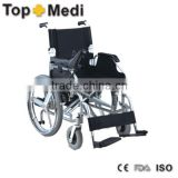 Lightweight Handicapped Steel Power Electric Wheelchair with Hand Rim