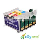 Refillable Cartridge 4C with Resetting Chip & Inks (TX121)