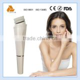 electrical facial massage white cleansing face brush with 2 different cleaning brushes