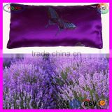 E687 Aromatherapy Organic Lavender Buckwheat Hulls Scented Eye Pillow Flax Seed Lavender Scented Pillow
