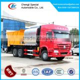10 wheelers sprayer spreader&synchronous chip,road construction chip spreader with 8cbm bitumen and 12cbm stone