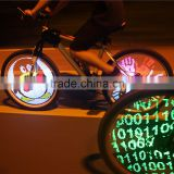 YQ8003 DIY Programmable Bicycle Spoke Bike Wheel LED Light Double Sided Screen Display Image Waterproof For 26 inches Bicycle
