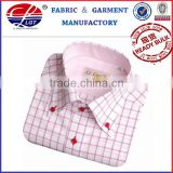 100% cotton,100/2*100/2,150*100,yarn dyed luxury pink check silkly long sleeve button down men's dress shirt