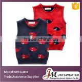 Organic cotton baby clothing children knitting fish pattern sweater infant knit vest sweater