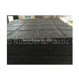 Anti-slip black rubber pavers crumb flooring for Playground / garden / park