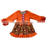 Lovely beautiful Long-sleeved Halloween baby girl clothes lace casual branded boutique girls clothing dress