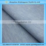 XFY dyed blue 100% linen fabric for pillow