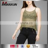 2017 Wholesale Cheaper Casual Blouse Women Summer Sleeveless Scoop Neck Slim Sexy Ladies Fishnet Knit Tank Top