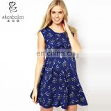 floral dresses blue fabrics white flower printing forever new dresses chiffon maternity dress