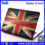 Popular Folio Plastic Protective Hard Shell Case For Apple Macbook Pro Retina 13 inch