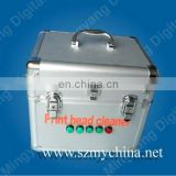 Ultrasonic solvent head cleaning machine