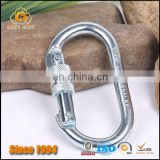 Good Quanlity Safety Petzl steel 25 KN Carabiner and Oval Scraew locking gate Carabiner ,Rock Climbing Carabiner
