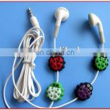 2015 hot selling products promotion gift custom design rubber beatles earphone holder