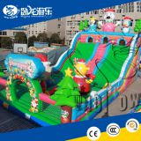 Factory price Children air jumping trampoline bouncing castle combo inflatable bouncer slide