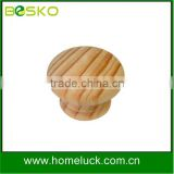 Decorative wooden knobs round wooden cabinet knob wholesale factory