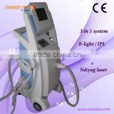 No Pain Pigment Removal Ipl Beauty Equipment / Ipl Vascular Lesions Wrinkle Removal Removal Rf Machine / Ipl Rf Laser Tighten Skin