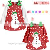 2015 latest design Christmas costume wholesale winter Christmas girls Baby birthday dresses MY-IA0044