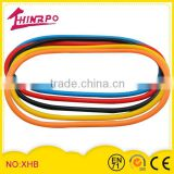 Fashion fun silicone elastic bands/silicone supper bands super strong resistance bands tube