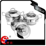 caitang stainless steel kitchen utensils sets with lid/ cooking pot casserole / stock pot