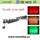 2015 Professional reasonable price and good quality 12pcs RGBW 4in1 Bar Light Wireless DMX Led Stage Bar Lighting