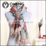 2015 new fashion polyester scarf from direct manufacturer, stock scarf ,100 polyester scarf
