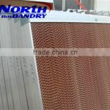 pad and fan polycarbonate sheet greenhouse cooling system