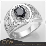 silver jewelry direct buy cubic zirconia black stone mens rings with ruby