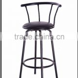 Metal black Finish Swivel Vinyl Seat Bar Stool