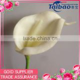 Tianjin Taibo wholesale PU material long stem 35 cm ivoy real touch calla lily