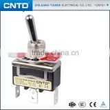 CNTD Manufacture High Quality Mini Toggle Switch ON-OFF-ON 4pin Spring Loaded Toggle Switch C513A