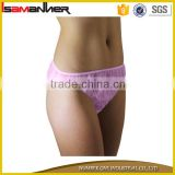 Outdoor travelling low waist non woven eco disposable panties for women
