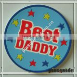 Top Sale Design Customized PVC Best Daddy Coaster For Dia Dos Pais