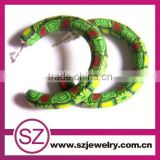 Cheapest & pretty polymer clay flower pattern hoop earring