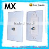 2RCA electrical socket waterproof socket speaker cable wall plate