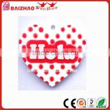 Creative Design Heart Shaped Hola PVC Key Chain