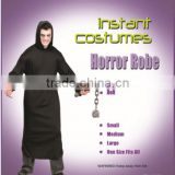 Midnight black ghost Horror Robe fancy dress instant suit costume
