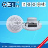 5 Inch Waterproof ABS Plastic Sound System Ceiling Speaker , 3/6w ceiling speaker for pa system BGM