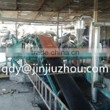 Used tire recycling machine including tire ring cutter,strip cutter ,block cutter , rubber cracker , fiber separator