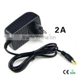 light Switch Power Supply Charger Transformer Adapter 110V 220V to DC 12V 2A RGB LED Strip 5050 3528 EU Cord Plug Socket