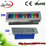9W led rgb brick light, led underground light,outdoor lighting inground light,garden lights