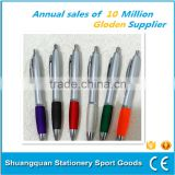 Ballpoint pen manufacturer gift school and office use customized logo plastic and sillicon promotional ballpen