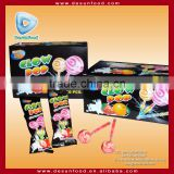 Glow pop fluorscent stick lollipop/lollipop candy                                                                         Quality Choice