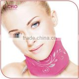USB Polar Fleece Soothing Vibrating Heated Neck Wrap Massager