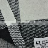 Hot sell high quality cashmere blend acrylic black and white plaid woolen fabric for coats