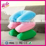 Flocking PVC inflatable travel U shape neck pillow                                                                         Quality Choice