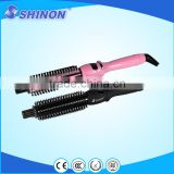 2014 Ceramic Electric Hair rotating Brush Curlers Hot Air Brush hair styling tools hair curly comb